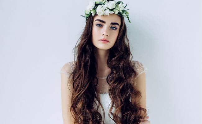 Peinados de novia para usar con pelo largo