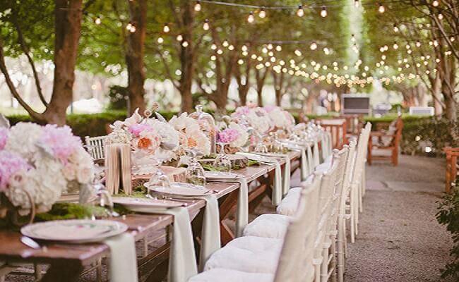 Ejemplo de banquete y cóctel para una boda