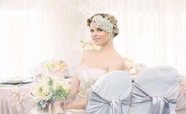 Cabello corto estilo vintage para una boda