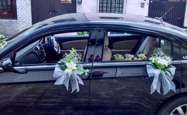 Coche decorado para boda