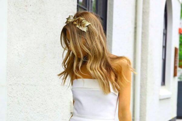 Ejemplo de peinado sencillo para una boda