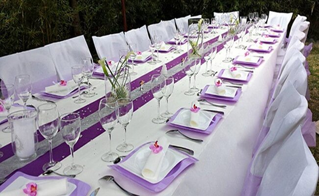 Idea de mesa para una boda de plata