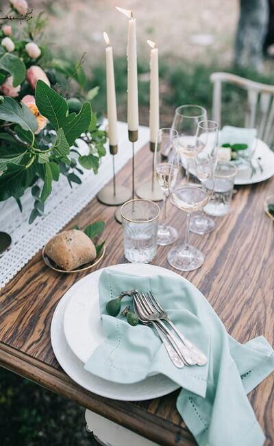 Mesa estilo vintage de boda