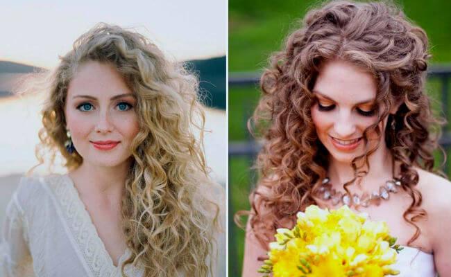 Peinados con pelo rizado muy elegante