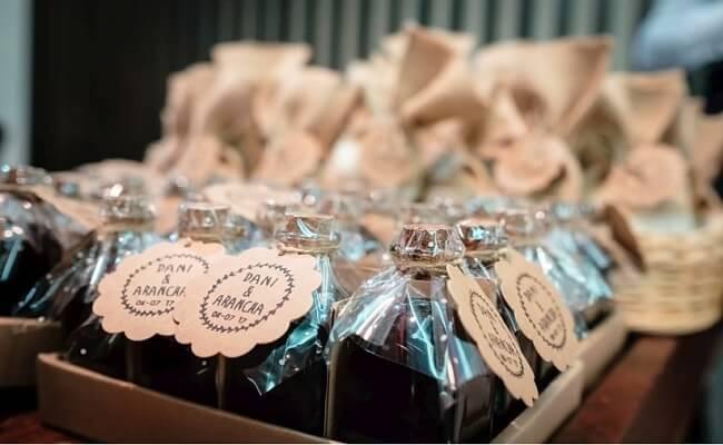 Alimentos de regalo para los invitados