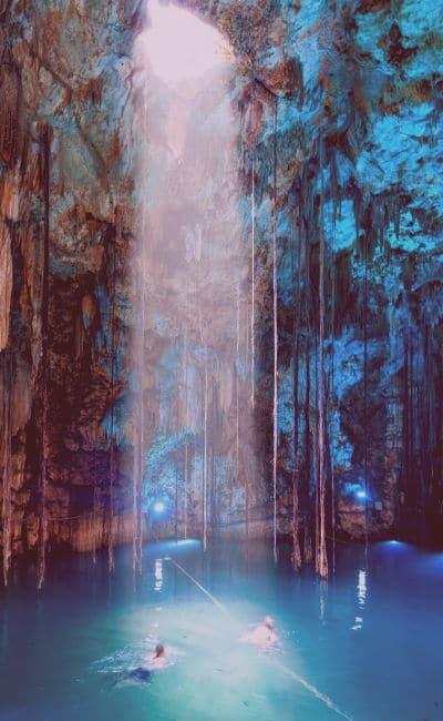 Cenote mexicano para luna de miel