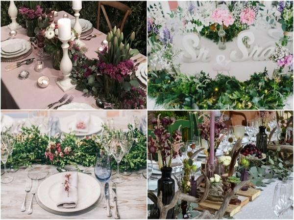 Imágenes de centros de mesa vintage