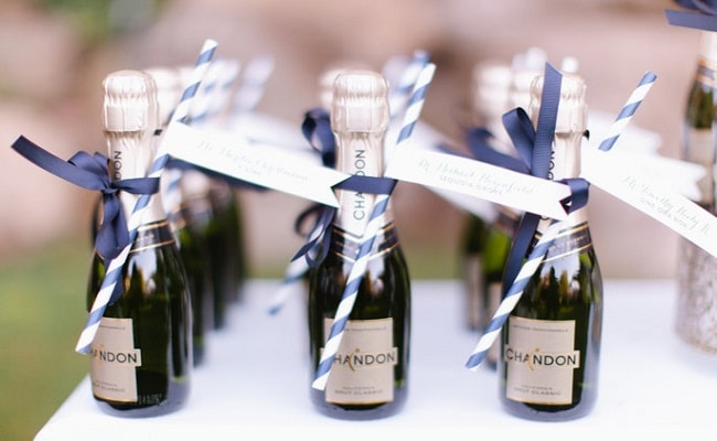 Detalle para boda chardonnay
