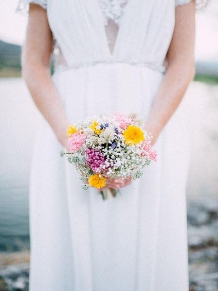 Flores de color pastel