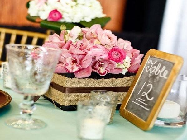 Flores para las mesa estilo vintage