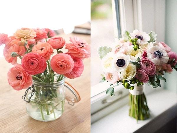 Ejemplo con flores Peonia