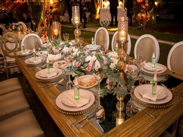 Mesas elegantes de boda