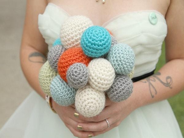 Ramo de boda estilo tejido
