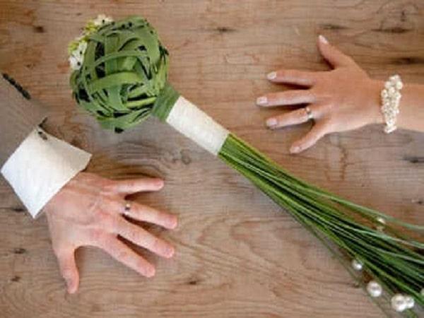 Ramo de casamiento forma de palma