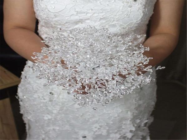 Ramo de novia cristal