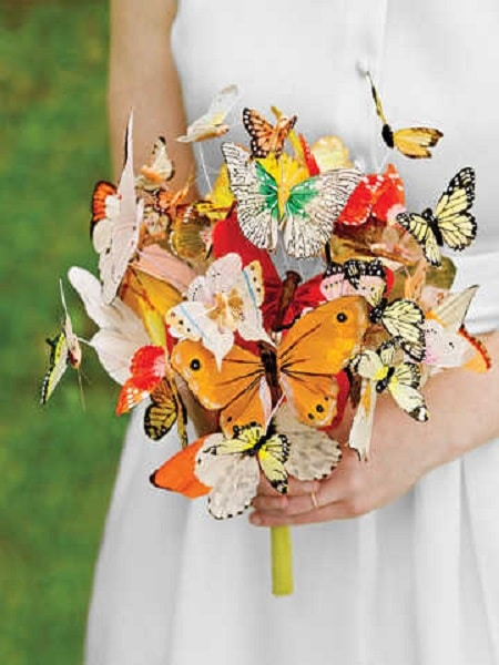 Ramo para novia mariposas