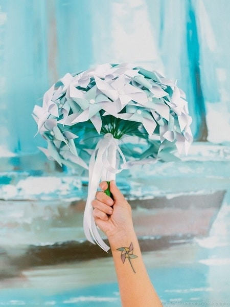 Ramo de papel origami
