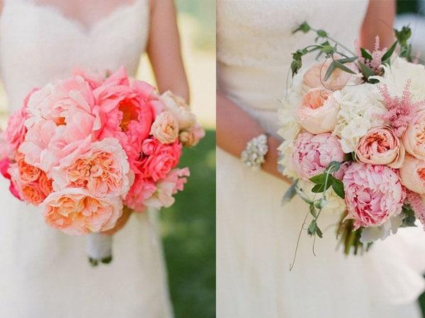 Ramos de flores de varios colores