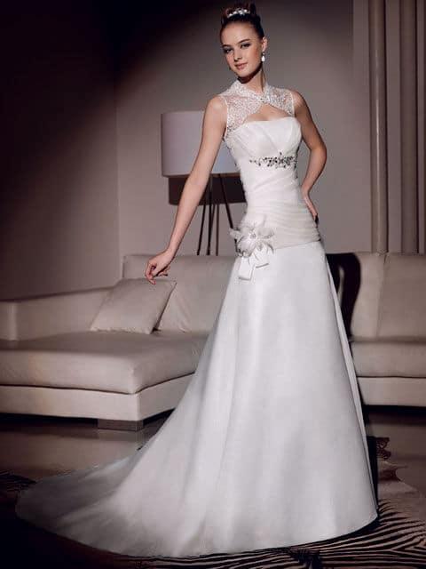 vestidos de novia escote Reina Ana