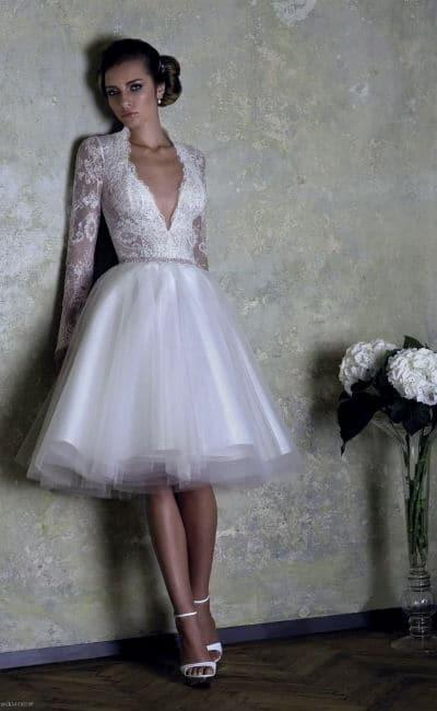 Vestido bonito de novia