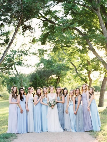 Vestido de dama azul
