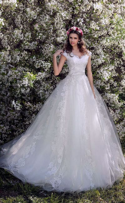 vestidos de novia elegantes corte princesa