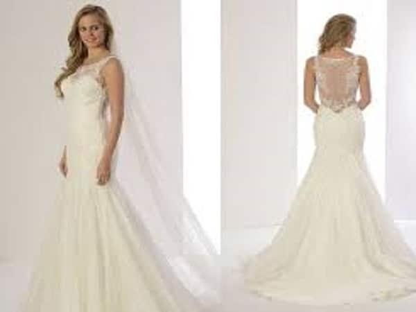 Vestido de novia blanco y elegante