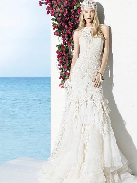 Vestido para novia en la playa
