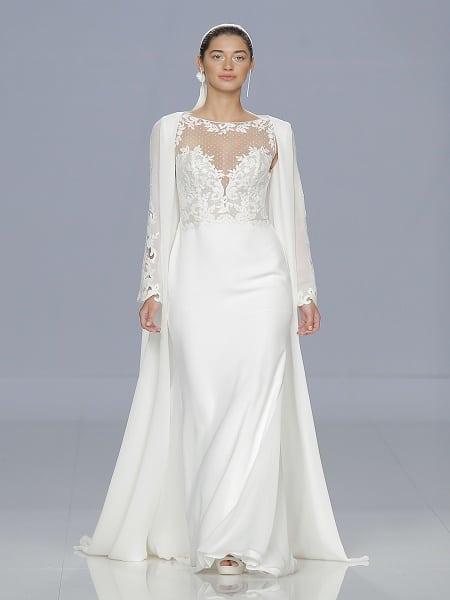 Vestido de novia con escote Strapless