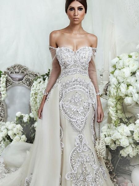 Vestido de novia lujoso