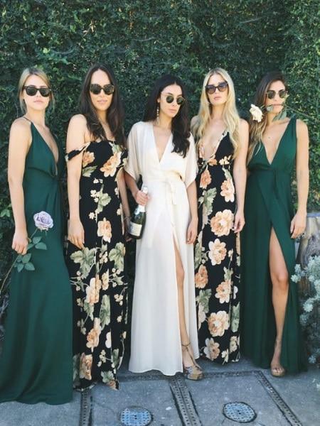 Vestidos de dama de honor diferentes matices