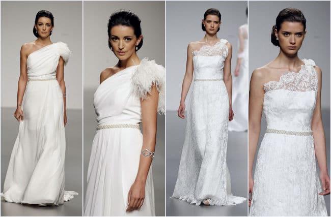 vestidos de novia asimétricos americanos
