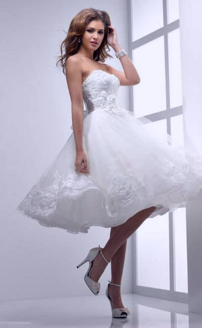 7e07903b0 Los mejores Vestidos de Novia Cortos con cola corta y larga