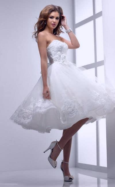 Vestidos de novia cortos color blanco