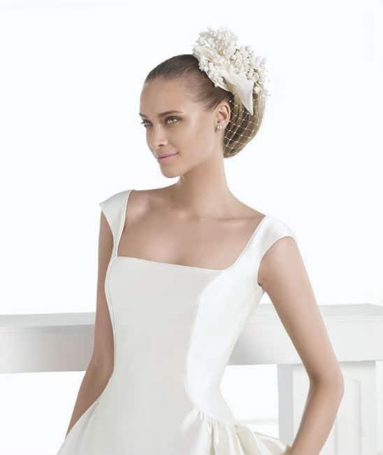vestidos de novia cuadrados