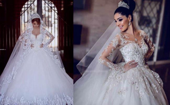 Vestidos para novia delgada