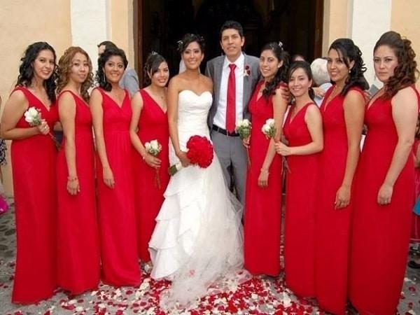 Vestidos rojos de boda