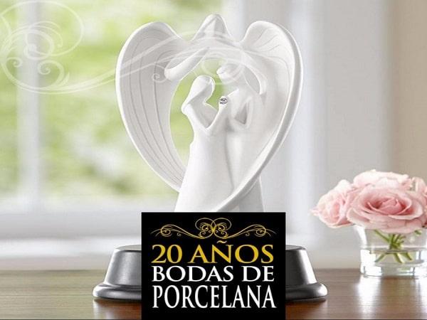 20 años boda de Porcelana