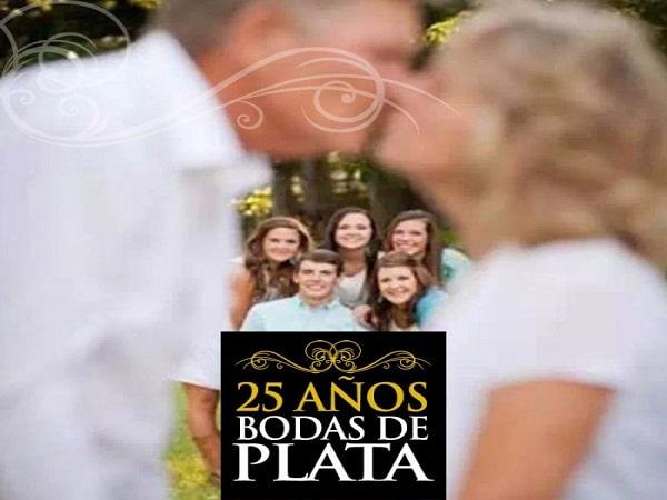 25 años boda de Plata