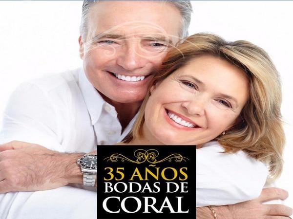 35 años boda de Coral