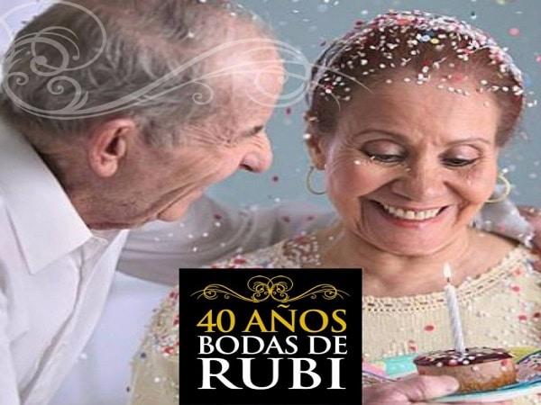 40 años boda de Rubi