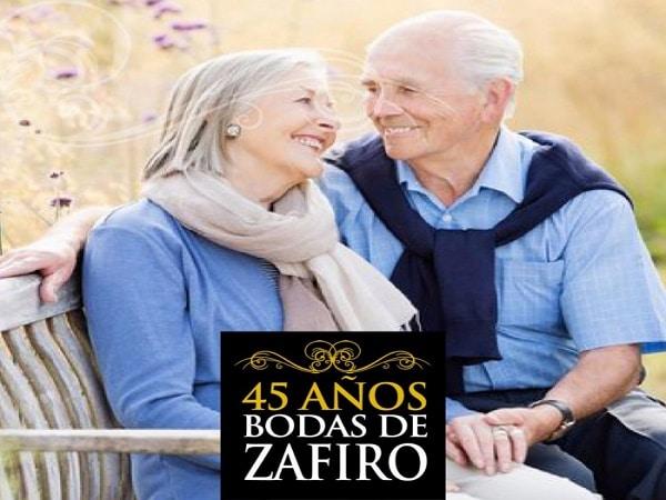45 años boda de Zafiro