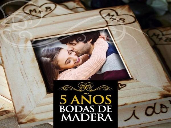 5 años boda de Madera
