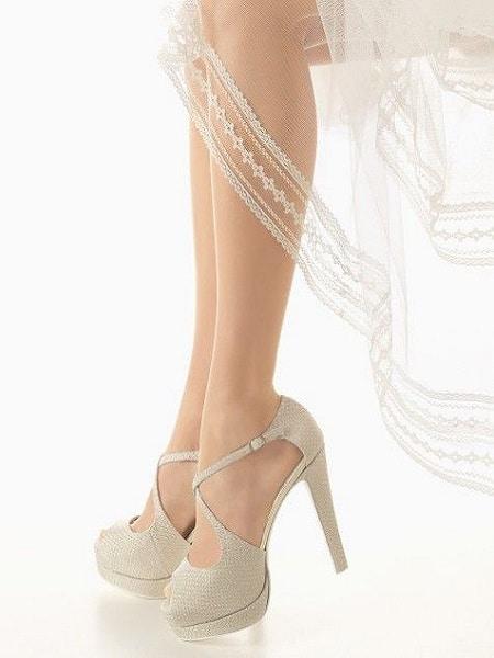 zapato de color crema