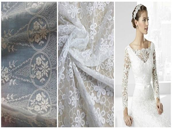 telas para vestido de novia de julián Lopez