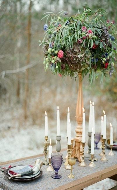 decoración de bodas inspoirada e Juego de Tronos