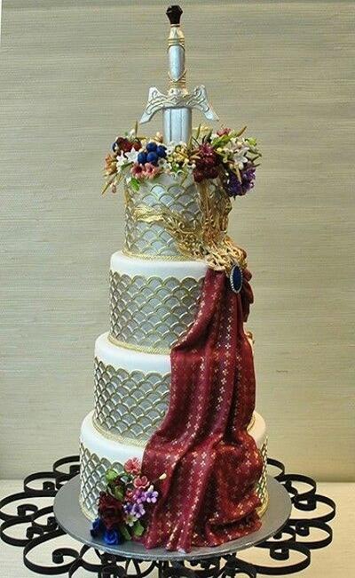 pastel de bodas inspirado en juego de tronos