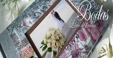 libro de firmas boda romántica
