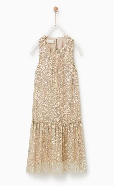 Vestidos de niña para bodas Zara
