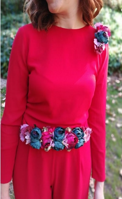 cinturones de flores para bodas de día